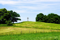 Cross on a Hill Royalty Free Stock Photography