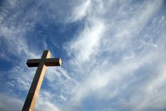 Cross on the hill above Dubrovnik. Croatia Royalty Free Stock Images