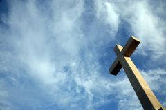 Cross on the hill above Dubrovnik. Croatia Royalty Free Stock Image