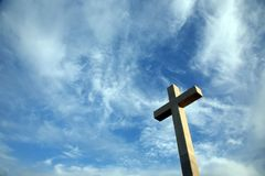 Cross on the hill above Dubrovnik. Croatia Royalty Free Stock Photos