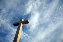 Cross on the hill above Dubrovnik. Croatia Royalty Free Stock Photo
