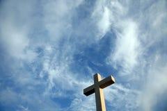 Cross on the hill above Dubrovnik. Croatia Stock Photo