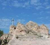 Cross on a hill. A cross on a hill at Budaors, Hungary Stock Photography