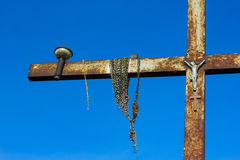 Cross on the Hill of Crosses in Lithuania. Royalty Free Stock Images
