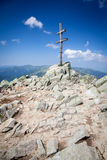 Cross on the hill Dumbier at Slovakia Royalty Free Stock Photos