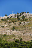 Cross on Hill in Historic Dubrovnik, Croatia Stock Image