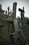 Cross Hill - Lithuania. Only a few of the thousands of crosses at the historic display of Christian crosses near the Lithuanian town of Siauliai stock photos