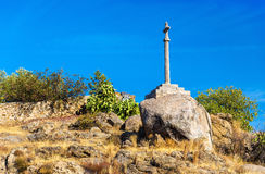 Cross on a hill near Toledo - Spain Royalty Free Stock Images