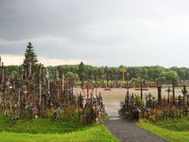 Cross hill after rain, Lithuania Stock Images