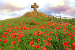 Cross on hill Royalty Free Stock Photo
