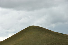 Cross on the hill. Cross  on top of a hill Royalty Free Stock Images