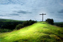 Cross on  a hill Stock Photos