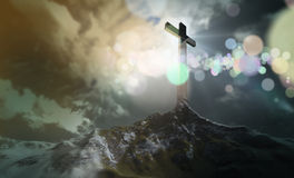 Cross on the hill Royalty Free Stock Photo