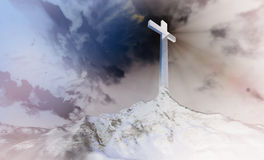 Cross on the hill Stock Image