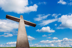 Cross. Holy cross with background of blue cloudy sky Royalty Free Stock Photos
