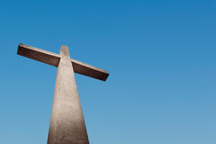 Cross. Holy cross with background of blue sky Royalty Free Stock Image