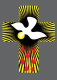 Cross with Holy spirit illustration. Cross light with Holy spirit and fire, art vector decoration Stock Photography