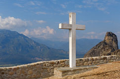 Cross in the Holy Trinity Monastery Royalty Free Stock Images