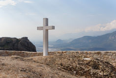 Cross in the Holy Trinity Monastery Stock Images