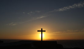 Cross on the horizon Royalty Free Stock Photography