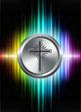Cross Icon Button on Abstract Spectrum Background Stock Image