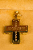 Cross with the icon Stock Image