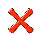 Cross icon, flat style Royalty Free Stock Image
