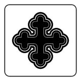 Cross icon on white background Royalty Free Stock Images