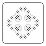 Cross icon on white background Royalty Free Stock Photos
