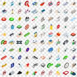100 cross icons set, isometric 3d style Royalty Free Stock Photography