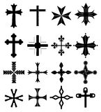 Cross icons set Stock Images