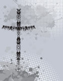 Cross with ink splash background Royalty Free Stock Image