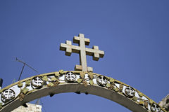 Cross of jerusalem church Royalty Free Stock Images