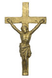 Cross of Jesus Christ isolated on white Stock Image