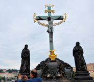 The cross of Jesus Christ in Prague Royalty Free Stock Photography