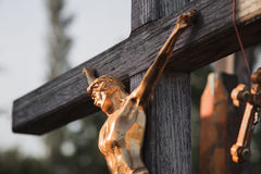 Cross. Jesus crucified on the cross Royalty Free Stock Photography