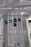 Cross junction. View from above Royalty Free Stock Image