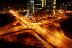 Cross junction in the evening. In Beijing,China Stock Photography