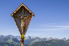 Cross in Karwendel Stock Photography