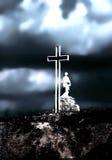 cross katolikiem negatywu filtr Zdjęcia Royalty Free