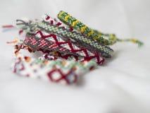 Cross Knot Friendship Bracelets Stock Photo