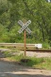 cross koleją wiejską drogą zdjęcia royalty free
