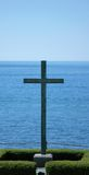 Cross On The Lake. Image taken at Fort Niagara,Youngstown,New York. Lake Ontario. Dedicated to the French and Indian War Royalty Free Stock Photo