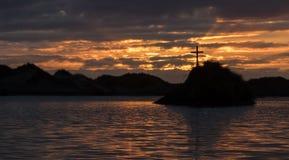 Cross Lake Island Royalty Free Stock Photography