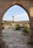 Cross in Las Hoces del Duraton, Segovia. Castilla y Leon, Spain Stock Photography