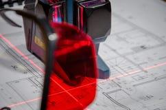 Cross laser level Stock Image
