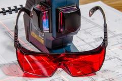Cross laser level Stock Photography