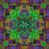 CROSS LEAVES MANDALA, BRIGHT PALLET, ABSTRACT BACKGROUND IN GREEN, BLUE, ORANGE, RED, PURPLE, VIOLET stock photos