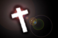 Cross with lensflare Royalty Free Stock Photos