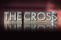 The Cross Letterpress Stock Images